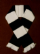 Black and White Retro Bar Scarf.